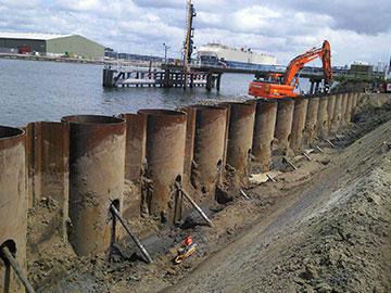 21,000 toneladas tubular estaca prancha enviadas para o porto de Manzanillo, no México.
